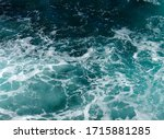 Background Of Aqua Sea Water...
