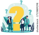 confused businesspeople asking...   Shutterstock .eps vector #1715889298