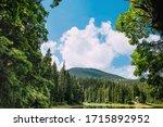 Beautiful Mountain Lake In The...