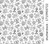 rate cut seamless pattern with... | Shutterstock .eps vector #1715903722