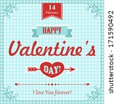card for valentine's day | Shutterstock .eps vector #171590492