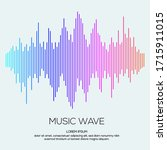 modern sound wave equalizer.... | Shutterstock .eps vector #1715911015