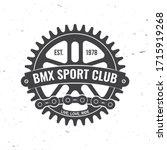 bmx extreme sport club badge....   Shutterstock .eps vector #1715919268