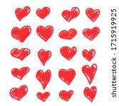 set of vector drawings of... | Shutterstock .eps vector #1715919925