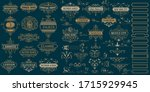 vintage logos and elements....   Shutterstock .eps vector #1715929945