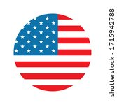 usa flag circle flat style icon ... | Shutterstock .eps vector #1715942788