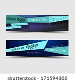 a set of banner on party theme... | Shutterstock .eps vector #171594302