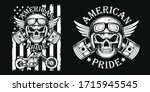 american pride t shirt and... | Shutterstock .eps vector #1715945545