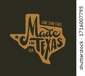 texas related t shirt design.... | Shutterstock .eps vector #1716007795
