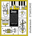 Jazz Live Music Banner Poster...