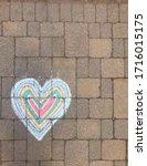 Hand Drawn Chalk Heart On...