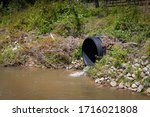 Black Plastic Drainage Culvert...