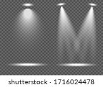 a collection of stage lighting. ... | Shutterstock .eps vector #1716024478