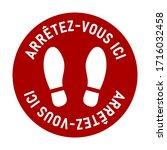 "arr tez vous ici  ""stop here""...   Shutterstock .eps vector #1716032458"