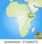 map of ethiopia with main... | Shutterstock . vector #171606272