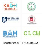 logo with symbol test tube...   Shutterstock .eps vector #1716086065