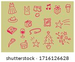 set of vector illustrations of...   Shutterstock .eps vector #1716126628