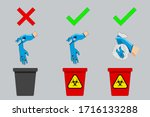 how to dispose of gloves that... | Shutterstock .eps vector #1716133288
