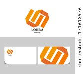 orange logo.icon design element ... | Shutterstock .eps vector #171613976