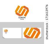 orange logo.icon design element ... | Shutterstock .eps vector #171613976
