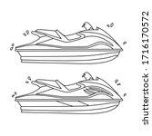 set of water motorcycle.... | Shutterstock .eps vector #1716170572