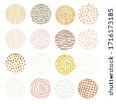 set of 16 contemporary color... | Shutterstock .eps vector #1716173185