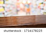 wood diagonal table with people ... | Shutterstock . vector #1716178225