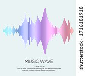 modern sound wave equalizer.... | Shutterstock .eps vector #1716181918