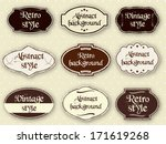 vintage labels  | Shutterstock .eps vector #171619268
