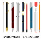 pen set vector design...   Shutterstock .eps vector #1716228385