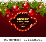red greeting card with... | Shutterstock .eps vector #1716236032