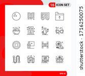 Group Of 16 Outlines Signs And...