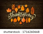 happy thanksgiving holiday... | Shutterstock .eps vector #1716260668