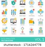 data analytics icons including... | Shutterstock .eps vector #1716264778