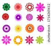 Set Of Vector Flowers Isolated...