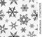 snowflakes pattern. seamless... | Shutterstock .eps vector #1716276925