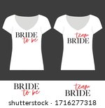bachelorette party calligraphy... | Shutterstock .eps vector #1716277318