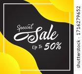 vector illustration of a sale... | Shutterstock .eps vector #1716279652
