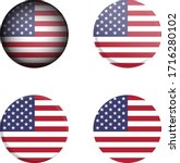 round country flag in different ... | Shutterstock .eps vector #1716280102