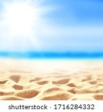 Summer Sand Beach Background....