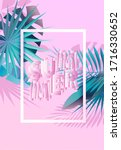 summer tropical design. floral... | Shutterstock .eps vector #1716330652