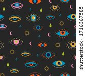 Evil Eyes Seamless Pattern....