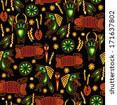ethnic seamless pattern.... | Shutterstock .eps vector #171637802