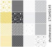 set of 16 seamless patterns... | Shutterstock .eps vector #171640145