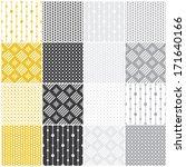 set of 16 seamless patterns... | Shutterstock .eps vector #171640166