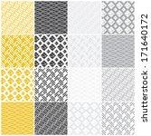 set of 16 seamless patterns... | Shutterstock .eps vector #171640172