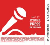world press freedom day banner | Shutterstock .eps vector #1716402508
