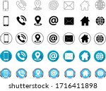 contact us icon trendy flat... | Shutterstock .eps vector #1716411898