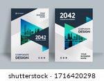 corporate book cover design... | Shutterstock .eps vector #1716420298