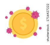 coin vector. wallpaper. free... | Shutterstock .eps vector #1716427222